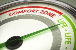 life grows after comfort zone