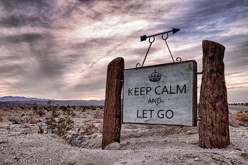 Keep calm and let go